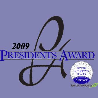 Carrier President's Award Logo 2009