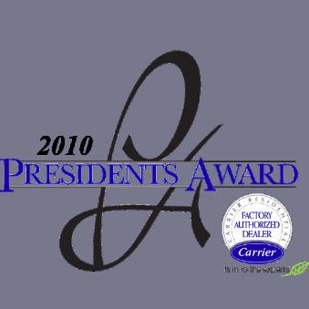 Carrier President's Award Logo 2010