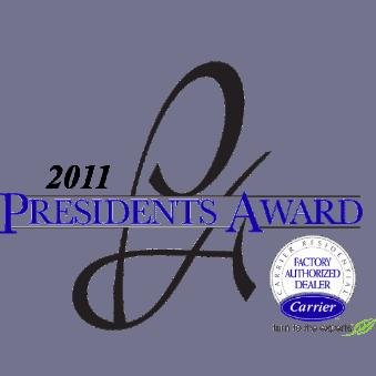 Carrier President's Award Logo 2011