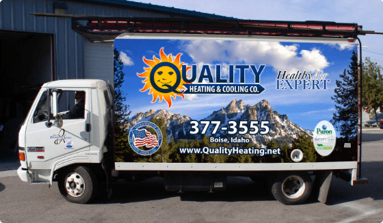 Quality Heating and Cooling Truck