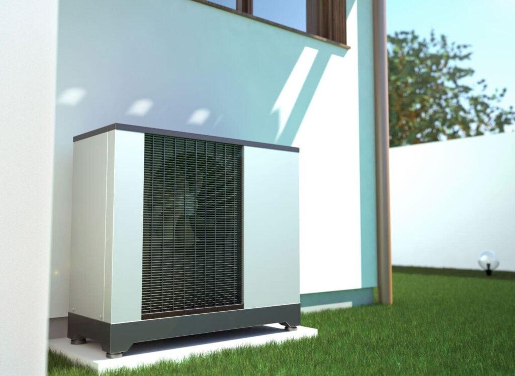 Air heat pump beside Nampa
